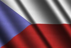 Flag of Czechia. Illustration of Flag of Czech Republic Royalty Free Stock Photography