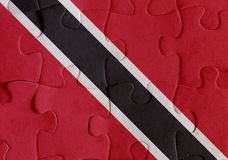 Trinidad and Tobago flag puzzle Royalty Free Stock Images