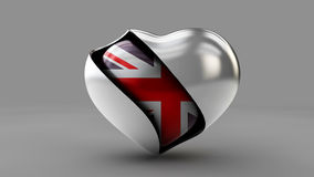 Illustration Flag of the UK in the abstract heart Stock Images