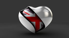 Illustration Flag of the UK in the abstract heart Stock Photography