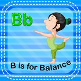 Flashcard letter B is for balance. Illustration of Flashcard letter B is for balance Royalty Free Stock Image