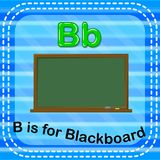Flashcard letter B is for blackboard vector illustration