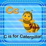 Flashcard letter C is for caterpillar. Illustration of Flashcard letter C is for caterpillar Royalty Free Stock Image