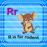 Flashcard letter R is for rodent. Illustration of Flashcard letter R is for rodent Royalty Free Stock Photos