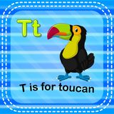 Flashcard letter T is for toucan. Illustration of Flashcard letter T is for toucan Vector Illustration