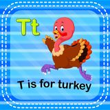 Flashcard letter T is for turkey. Illustration of Flashcard letter T is for turkey Stock Photo