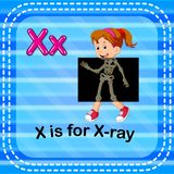 Flashcard letter X is for x-ray. Illustration of Flashcard letter X is for x-ray royalty free illustration