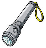 Illustration of a flashlight. Stock Image