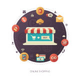 Illustration of flat design business composition Stock Photography