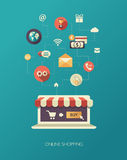 Illustration of flat design business composition Stock Photo