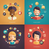 Illustration of flat design business composition Royalty Free Stock Photography
