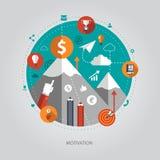 Illustration of flat design business illustration Royalty Free Stock Images