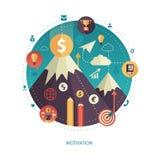 Illustration of flat design business illustration Royalty Free Stock Photo