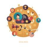 Illustration of flat design business illustration Royalty Free Stock Photography