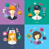 Illustration of flat design business illustrations Royalty Free Stock Photography