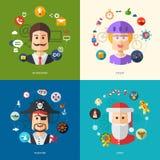 Illustration of flat design business illustrations Stock Photo