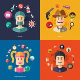 Illustration of flat design business illustrations Royalty Free Stock Image