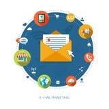 Illustration of flat design business marketing. Illustration of vector flat design business marketing composition Royalty Free Stock Image