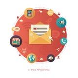 Illustration of flat design business marketing Stock Photography