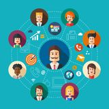 Illustration of flat design business team work Royalty Free Stock Images