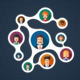 Illustration of flat design business team work Royalty Free Stock Images