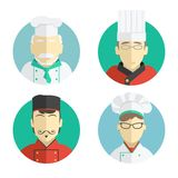 Illustration of flat design. the chef icons Stock Photo