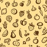 Illustration of flat design fruits and vegetables Stock Photography