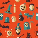 Illustration of flat design Halloween pattern. Illustration of vector flat design Halloween pattern Stock Photography