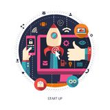 Illustration of flat design start up business Royalty Free Stock Image