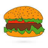 Illustration of flat fast food icon Vector Stock Image