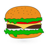 Illustration of flat fast food icon Vector Royalty Free Stock Photos