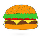 Illustration of flat fast food icon Vector Royalty Free Stock Photo