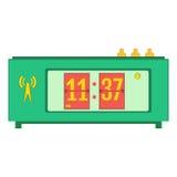 Illustration of flat flip clocks Royalty Free Stock Photos