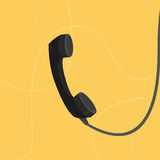 Illustration flat handset. Contact. Wires Royalty Free Stock Photos