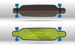 Illustration of flat longboards  Royalty Free Stock Image