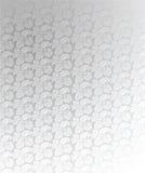 Illustration fleurie argentée de luxe de fond Photographie stock