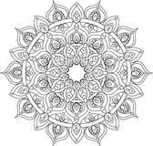 Illustration fleurie de mandala d'ensemble de vecteur Image stock