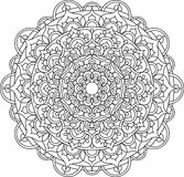 Illustration fleurie de mandala de vecteur illustration stock