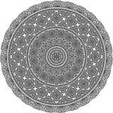 Illustration fleurie de mandala de vecteur Plat, oreiller, conception couvrante d'impression illustration stock
