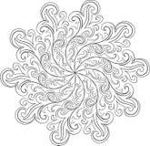 Illustration fleurie de mandala de vecteur pour livre de coloriage illustration de vecteur