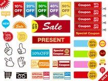 Flier coupon set. It is an illustration of a Flier set royalty free illustration