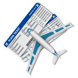Illustration of flight tickets with airplane Royalty Free Stock Image
