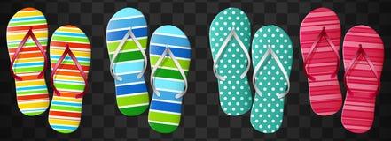 Flip flops set. Isolated vector design. Illustration of Flip flops set. Isolated vector design Stock Photography