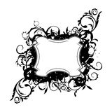 Illustration the floral black decor element Royalty Free Stock Photos