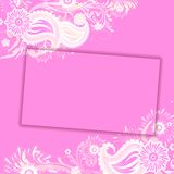Floral Card Stock Image