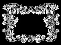 Illustration of floral frame Royalty Free Stock Photography