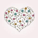 Illustration of floral heart Stock Image