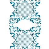 Illustration with floral ornament in blue tones. Royalty Free Stock Photography