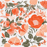 Illustration of floral pattern Royalty Free Stock Photography