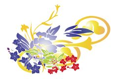 Illustration florale illustration libre de droits